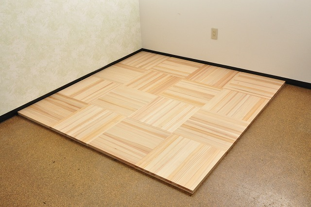 耳納杉の床材