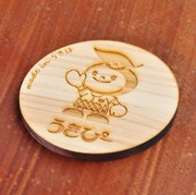 桧の木製 コースター(九州産)